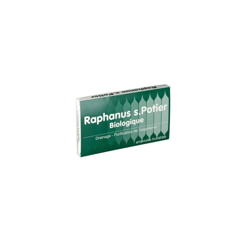 DRAINAGE HEPATIQUE 12 AMPOULES BUVABLES RAPHANUS S POTIER