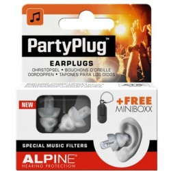 BOUCHONS D'OREILLES PARTYPLUGS EARPLUGS ALPINE HEARING PROTECTION