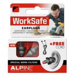 BOUCHONS D'OREILLES WORKSAFE EARPLUGS ALPINE HEARING PROTECTION