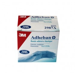 ADHEBAN PLUS BANDE ADHESIVE ELASTIQUE 3cm X 2.5cm 3M