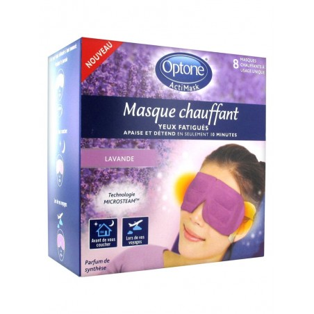 ACTIMASK MASQUE CHAUFFANT YEUX FATIGUES LAVANDE OPTONE