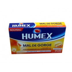HUMEX MAL DE GORGE MIEL CITRON PASTILLES SANS SUCRE 35ML URGO