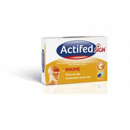 ACTIFEDSIGN RHUME 20 gelules JOHNSON ET JOHNSON
