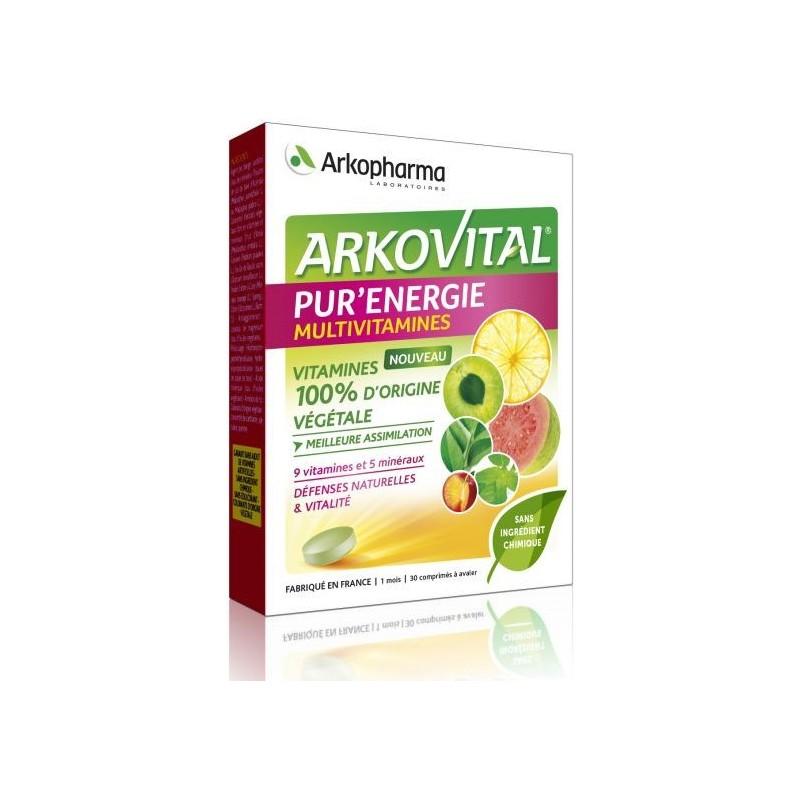 ARKOVITAL PUR ' ENERGIE MULTIVITAMINES 30 COMPRIMES ARKOPHARMA