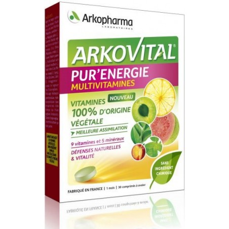 ARKOVITAL PUR ' ENERGIE MULTIVITAMINES COMPRIMES ARKOPHARMA