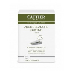 ARGILE BLANCHE SURFINE KAOLIN 200G CATTIER PARIS