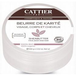 BEURRE DE KARITE BIO 100G CATTIER PARIS