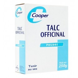 TALC OFFICINAL POUDRE 250G COOPER