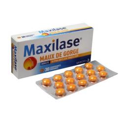MAXILASE MAUX DE GORGE 30 COMPRIMES SANOFI