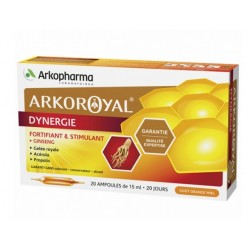 ARKOROYAL DYNERGIE 20 AMPOULES ARKOPHARMA