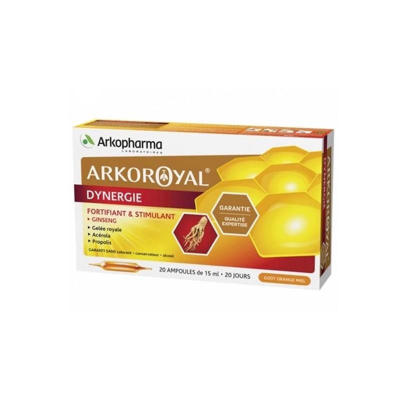 ARKOROYAL DYNERGIE 20 AMPOULES ARKOPHARMA