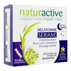 MELATONINE SERIANE LIBERATION RAPIDE 20 STICKS NATURACTIVE