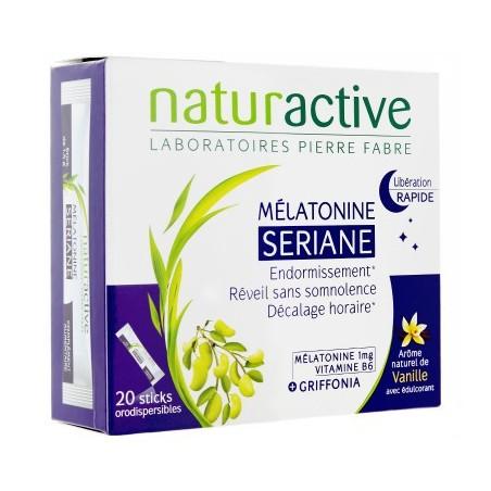 MELATONINE SERIANE LIBERATION RAPIDE 20 STICKS NATURACTIVE