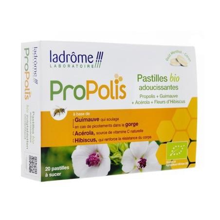 PASTILLES A LA PROPOLIS BIO ADOUCISSANTES X20 LADROME