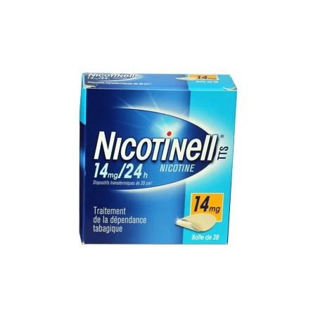 NICOTINELL TTS 14MG/24H  BOITE DE 28 PATCHS NOVARTIS