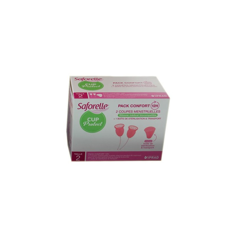 CUP PROTECT 2 COUPES MENSTRUELLES TAILLE 2 SAFORELLE
