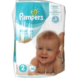 PRO CARE PREMIUM PROTECTION Taille 2 (3-6 KG) 36 COUCHES PAMPERS