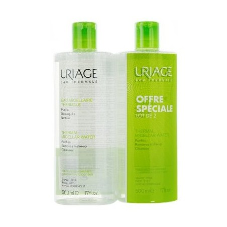 EAU MICELLAIRE THERMALE PEAUX MIXTES A GRASSES LOT DE 2X500ML URIAGE
