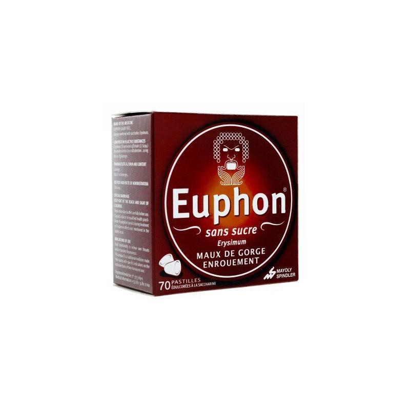 EUPHON SANS SUCRE ENROUEMENT 70 PASTILLES MAYOLY SPINDLER