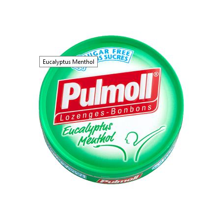 PULMOLL BONBONS SANS SUCRE EUCALYPTUS MENTHOL 45G