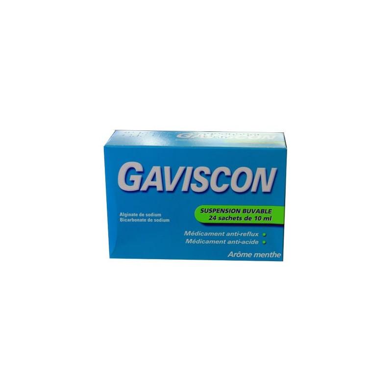 GAVISCON MENTHE SUSPENSION BUVABLE 24 SACHETS