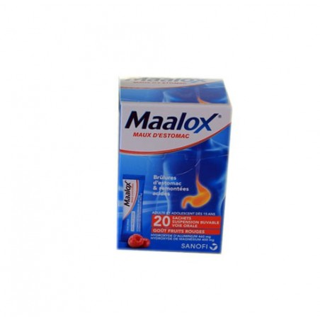 MAALOX MAUX D'ESTOMAC 20 SACHETS DOSES FRUITS ROUGES SANOFI