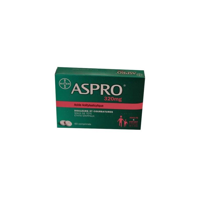 ASPRO 320 MG 60 COMPRIMES BAYER