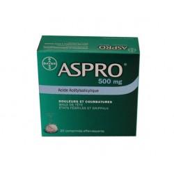 ASPRO 500 EFFERVESCENT Boite de 20 BAYER