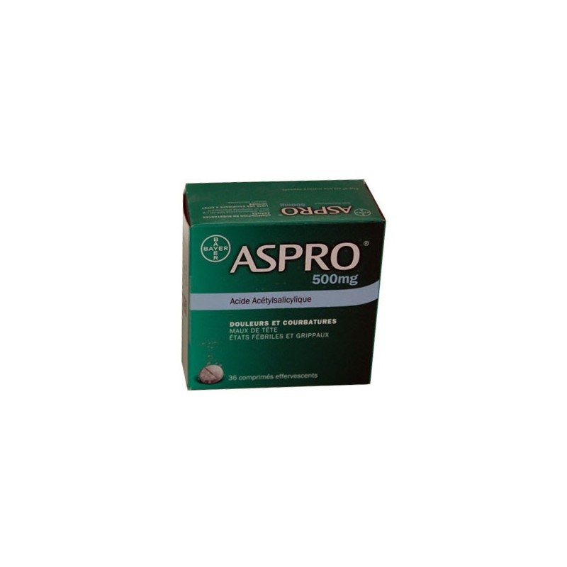 ASPRO 500 EFFERVESCENT Boite de 36 BAYER