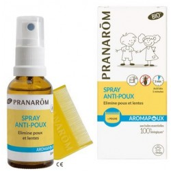 AROMAPOUX SPRAY ANTIPOUX 30ML BIO + PEIGNE PRANAROM