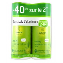 DEODORANT CITRUS  LOT DE 2 ROLL ON 50ML WELEDA