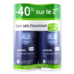DEODORANT HOMME LOT DE 2 ROLL ON 50ML WELEDA