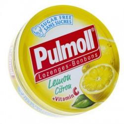 PULMOLL CITRON + VITAMINE C PASTILLES SANS SUCRE 45G