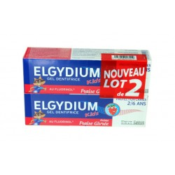 DENTIFRICE FRAISE GIVREE PROTECTION CARIES KID'S LOT DE 2 X 50ML ELGYDIUM