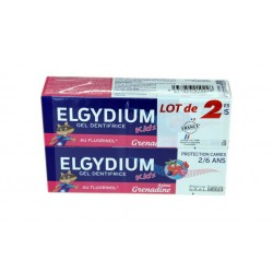 DENTIFRICE GRENADINE PROTECTION CARIES KID'S LOT DE 2 X 50ML ELGYDIUM