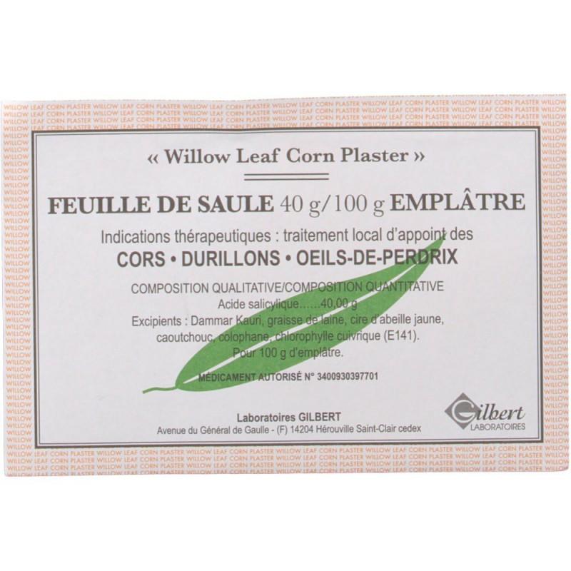 FEUILLE DE SAULE 40G/100G 1 EMPLATRE LABORATOIRES GILBERT