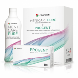SOLUTION MULTIFONCTIONS MENICARE PURE 250ML + PROGENT PACK