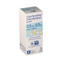 CHLORHEXIDINE/CHLOROBUTANOL ARROW 0,5 ml/0,5 g pour 100 ml
