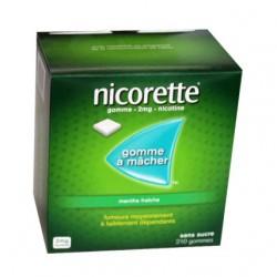 NICORETTE GOMMES SANS SUCRE MENTHE FRAICHE 2MG x210 JOHNSON & JOHNSON