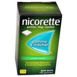 NICORETTE GOMMES MENTHE FRAICHE 4MG x105 JOHNSON & JOHNSON