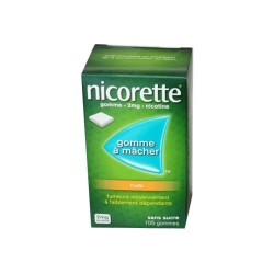NICORETTE GOMMES SANS SUCRE FRUITS 2MG x105 JOHNSON & JOHNSON