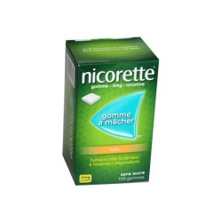 NICORETTE GOMMES SANS SUCRE FRUITS 4MG x105 JOHNSON & JOHNSON