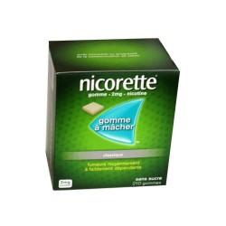 NICORETTE GOMMES SANS SUCRE 2MG x210 JOHNSON & JOHNSON