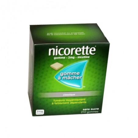 NICORETTE GOMMES CLASSIQUE 2MG x210 JOHNSON & JOHNSON