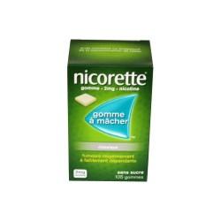 NICORETTE GOMMES SANS SUCRE 2MG x105 JOHNSON & JOHNSON