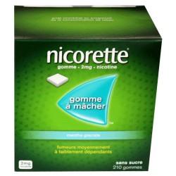 NICORETTE GOMMES SANS SUCRE MENTHE GLACIALE 2MG x210 JOHNSON & JOHNSON