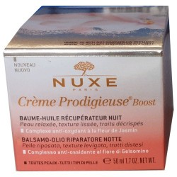 CREME PRODIGIEUSE BOOST BAUME HUILE TOUTES PEAUX NUIT 50ML NUXE