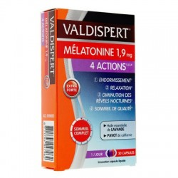 VALDISPERT MELATONINE 1,9 mg 4 ACTIONS 30 CAPSULES