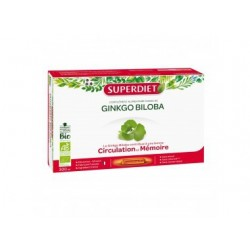 GINKGO BILOBA CIRCULATION & MÉMOIRE BIO 20 AMPOULES SUPER DIET