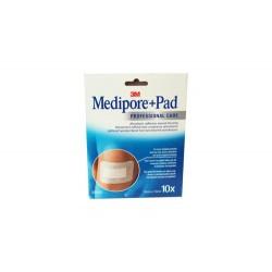 MEDIPORE + PAD PANSEMENTS ADHÉSIFS 10CMX10CM X10 3M